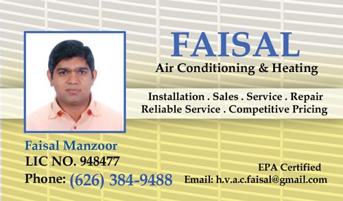 Faisal Heating & air Conditioning